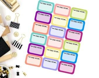Non Scale Victory Fitness Stickers! Perfect for your Erin Condren Life Planner, calendar, Paper Plum, Filofax!