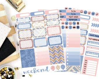 Serendipity Weekly Kit Stickers! Perfect for your Erin Condren Life Planner, calendar, Paper Plum, Filofax!