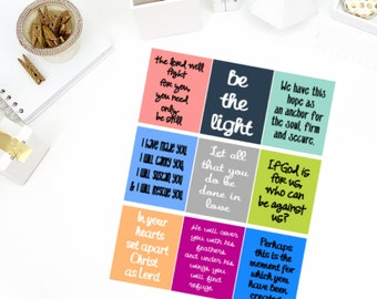 Bible #1 Quotes Stickers! Perfect for your Erin Condren Life Planner, calendar, Paper Plum, Filofax!