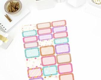 Celebration Half/Quarter Stickers! Perfect for your Erin Condren Life Planner, calendar, Paper Plum, Filofax!