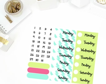Be A Flamingo Date Cover Up Stickers! Perfect for your Erin Condren Life Planner, calendar, Paper Plum, Filofax!