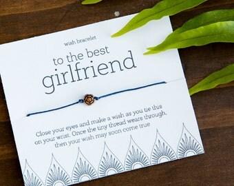 Best Girlfriend Wish Bracelet, Valentines Gift, Make a Wish, Unique Gifts under 10, Fun Gift, Birthday, Anniversary Gift, Creative Gift
