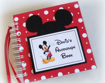 CLASSIC PERSONALIZED Disney Autograph Book Scrapbook Travel Journal Vacation Photo Album