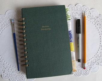 garden  journal, nature junk journal, altered book junk journal