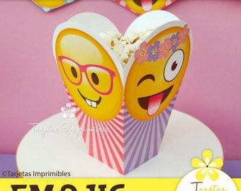 Emojis nena popcorn box printable. PDF. Immediate download.