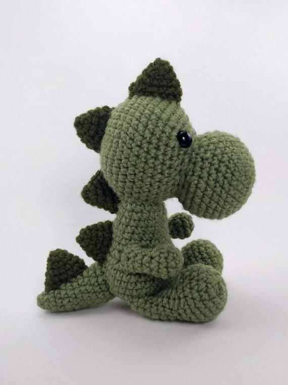 PATTERN: Crochet dinosaur pattern - amigurumi dinosaur pattern - crocheted di...