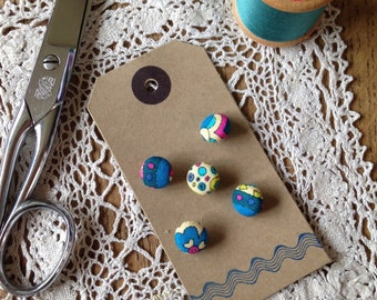 Fabric Covered Buttons - Liberty 'Virginia'