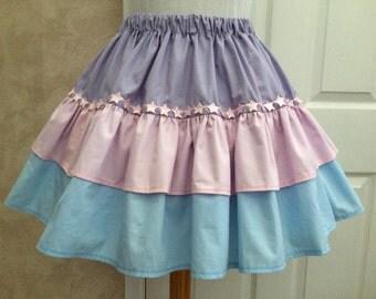 Sweet Pastel Tiered Mini Skirt