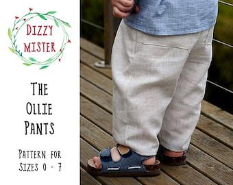 Children's pants sewing pattern, kids trousers PDF pattern, boys pants digital download, toddler pants sewing pattern