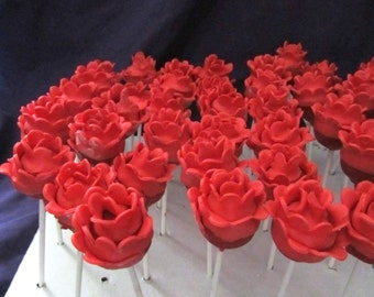 12 Roses cake pops Painting the roses red Alice in wonderland pops