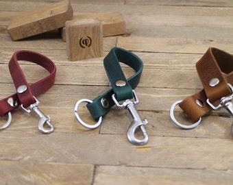 Keychain, Handmade Keychain, FREE ID tag, Leather lanyard, Keychain, Key fob, Key holder, Key strap, Leather ID lanyard.