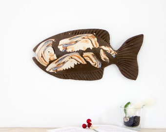 3D Wall Art | Ceramic fish sculpture | Wall decor | Hanging Wall sculpture | Hanging sculpture | Fish art | Fish decor | Handmade Fish