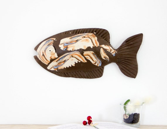 RamunesCeramic - 3D Wall Art | Ceramic fish sculpture | Wall decor ...