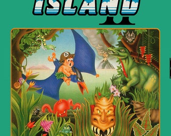 NES Adventure Island 2 - Replacement Box NO Game Included