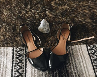 Patent Leather Black Flats