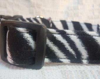 Dog Collar On Sale / Zebra Dog Collar /  Sale Dog Collar / Cool Dog Collar / Animal Print Dog Collar / Black and White dog collar