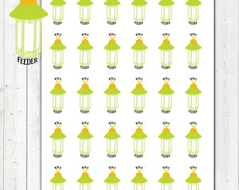 40% OFF SALE Fill Feeder Stickers, Fill Bird Feeder Planner Stickers – Will fit any planner– 1434