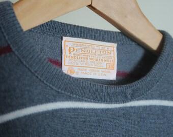 Striped Pendleton Fine Knit Wool Sweater