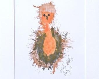 Watercolour Robin Print