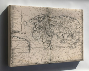 Canvas 24x36; Map Of The World 1513