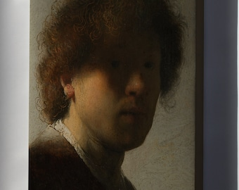 Canvas 24x36; Self Portrait At An Early Age By Rembrandt