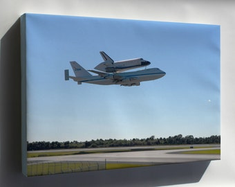 Canvas 24x36; Shuttle Carrier Aircraft, Or Sca, And Space Shuttle Endeavour
