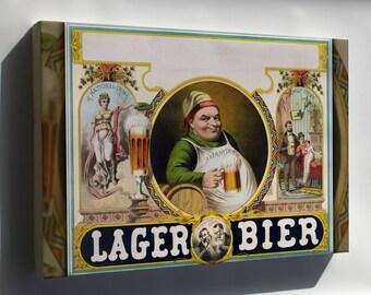 Canvas 16x24; Lager Bier C1870S