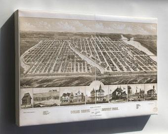 Canvas 16x24; Map Of Ocean Grove Asbury Park New Jersey 1881