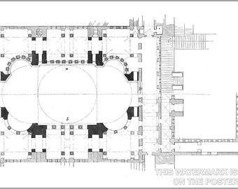 16x24 Poster; Hagia Sophia Groundplan