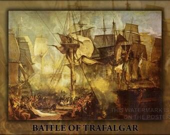 16x24 Poster; Battle Of Trafalgar P2
