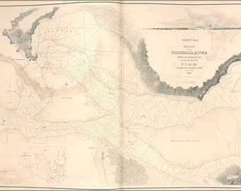 16x24 Poster; Map Mouth Of Columbia River Oregon Territory 1841