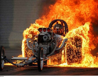 Top Fuel Dragster Very Fire Burnout
