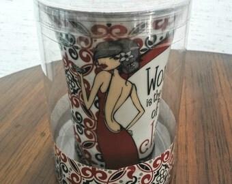 Painted Mug - Funny Coffee Mug - Collectible Mug - Vintage Coffee Mug - Collectible Coffee Cup - Ceramic Coffee Cup - Novelty Coffee Mug