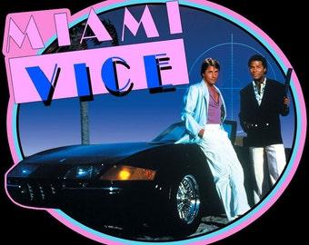 Miami Vice Vintage Image T-shirt