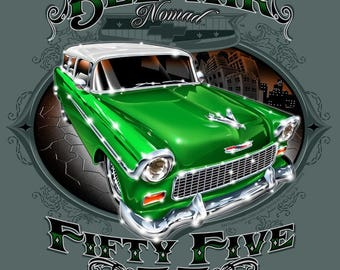 1955 Chevy Nomad Custom Made Image t*shirt