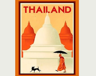 Thailand Decal - Thailand Sticker - Thailand Vacation Decal - Thailand Vacation Sticker - Thailand Travel Sticker - Tourist Decal - S194