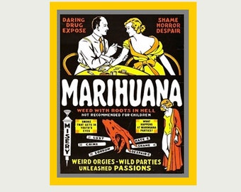 Marijuana Sticker - Marihuana Sticker - Weed Stickers - Marijuana Decals - Weed Decal - Marijuana Laptop Decals - Marijuana Car Decal - S146