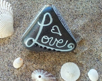 Hand Painted Love Rock