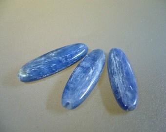 Blue Kyanite High Shiller Smooth Oval Focal Bead Kyanite Pendant Necklace Set of 1