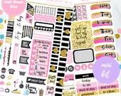 Boss Babe Planner Mini Kit Stickers  (Perfect for Erin Condren Vertical) #MK-002