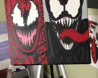 Carnage Venom Spiderman Canvas Art Painting Marvel Comics