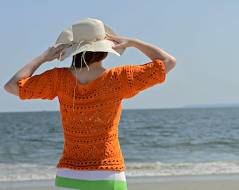 Hand Knit Catalina Beach Sweater