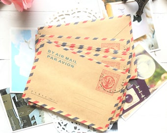 Large Sized RETRO VINTAGE STYLE Envelopes 10Pk/Italy