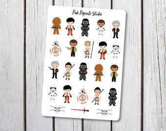 Star Wars New Characters Planner Stickers Designed for the Erin Condren Life Planner