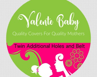 Twin Shopping Cart Cover - Grocery Cart Cover - Buggy Cover - Baby Shower Gift - Twin - Double