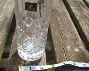 Royal Doulton Crystal CICANT Cut Glass Tall Tumbler