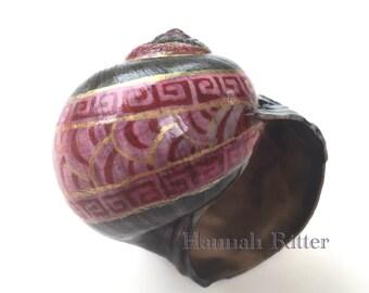 Pysanky-Style Batik Moon Snail