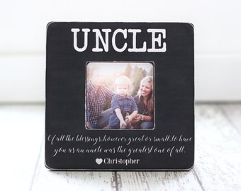Uncle Gift Personalized Picture Frame for Uncle from Nephew Niece