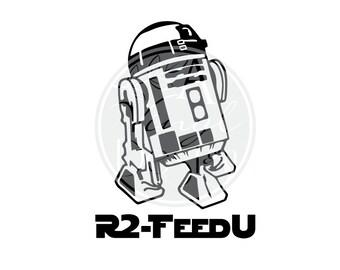 R2-FeedU   R2D2 Inspired Vinyl Decal