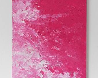 Acrylic 40 x 50 pink wave